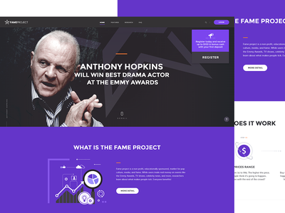 Fameproject - Web design minimal branding website vector web illustration ux ui