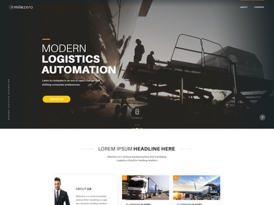Milezero_Concept minimal website web concept illustration ux ui