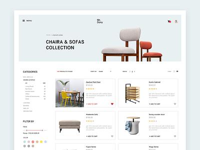 E Commerce Web Design Concept minimal website web concept ux ui