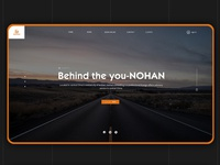 Norman website home page design
