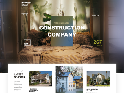 Inovation House_Web UI/UX Design minimal website vector web concept illustration ux ui
