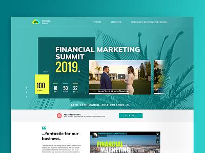 Financial marketing summit 2019 - Web design minimal website web concept illustration ux ui