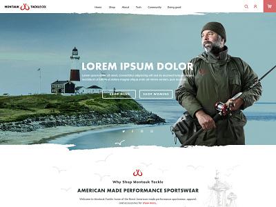 A Montauk Home Preview V02 minimal website web concept illustration ux ui