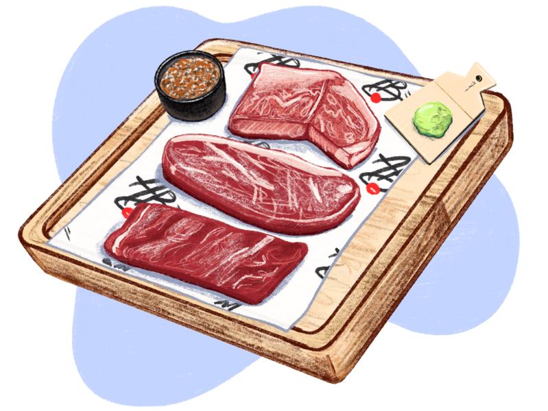 LATIMES ABSteak los angeles times latimes restaraunt food and beverage food drawing illustration digital illustration