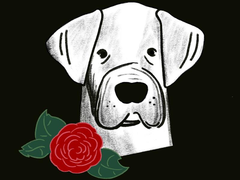 Deaf Dogs of Oregon - Profile 2 portland oregon portrait dogs animals drawing illustration digital illustration