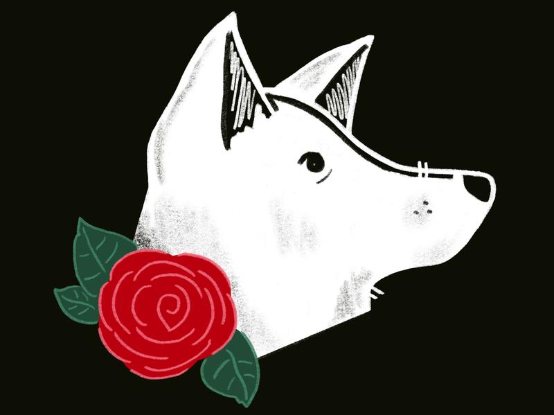 Deaf Dogs of Oregon - Profile 2 sketch portrait oregon dogs animals drawing illustration digital illustration