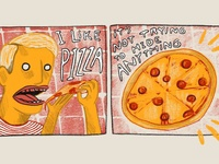 Pizza Hides Nothing