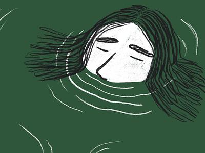 Thanks Baths thankyou portrait drawing illustration digital illustration thanks