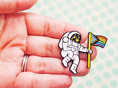 Mysterious Galaxy Pride Pin by boygirlparty pride 2021 pride month enamelpin lapel pin soft enamel pin lgbtq pride astronaut pin enamel pin