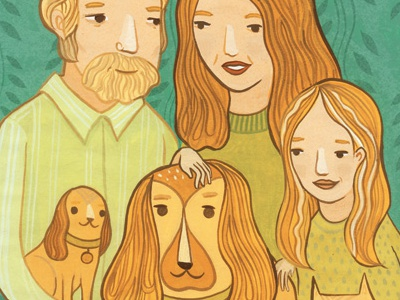 some people look like their pets family pet adoption hand painted illustration gouache people