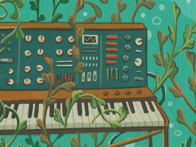 epitaph for my heart ocean music piano synth seaweed the magnetic fields illustration freehand analog gouache painting