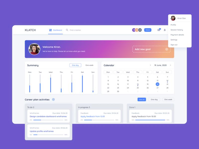 Dashboard for career boost app career illustration homepage figma web ux ui mentalstack design