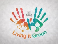 Living it Green Logo