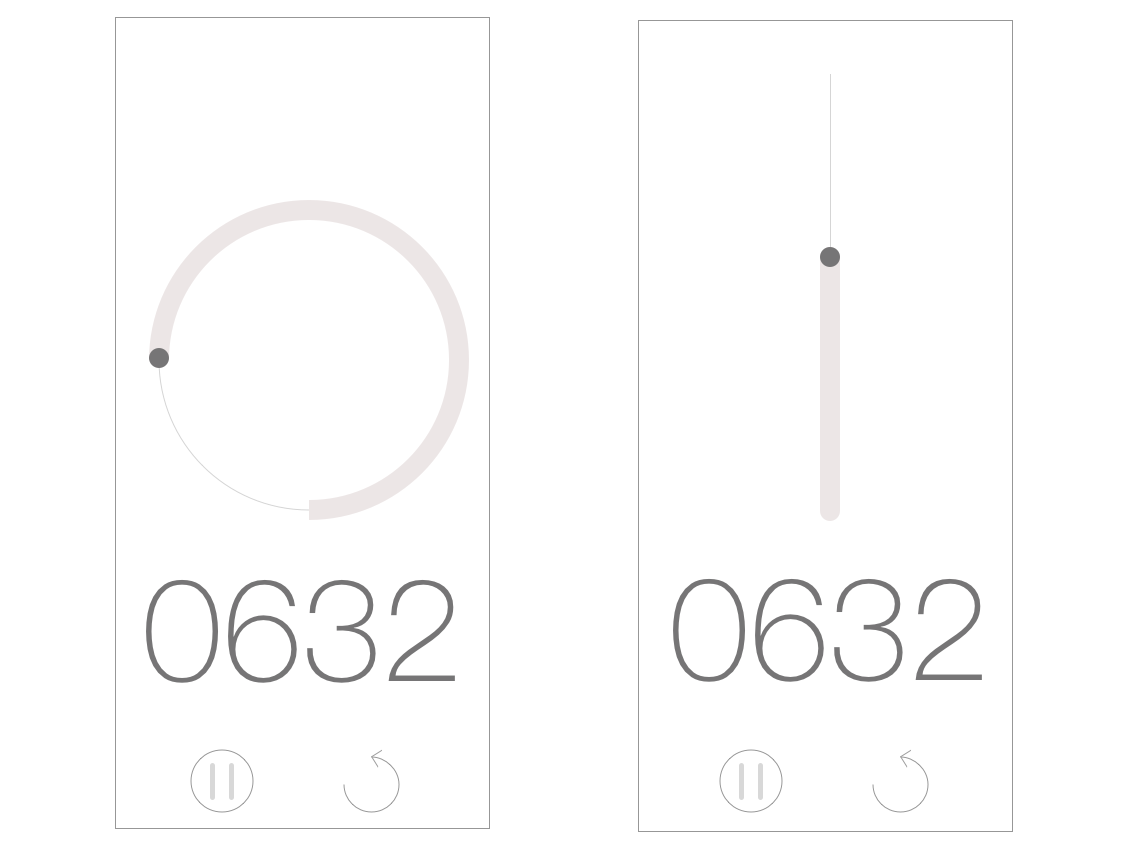 Daily UI #014 Countdown Timer iphone x app concept minimal app countdowntimer clock time lapse simple circle app line concept ui timer simplicity simple design white minimal design daily 100 challenge sketch