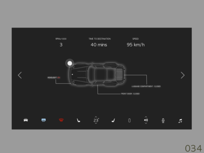 Daily UI #034 Car Interface