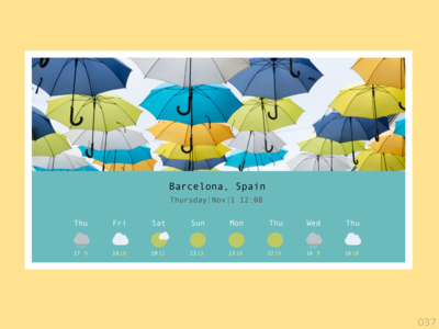 Daily UI #037 Weather