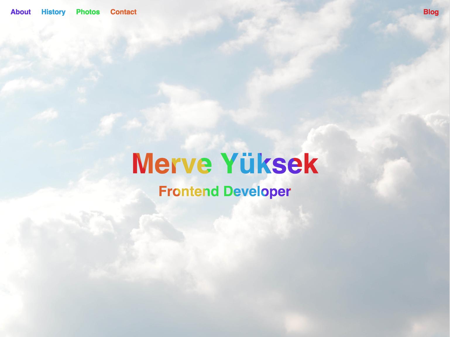 merveyuksek.com developer webpage