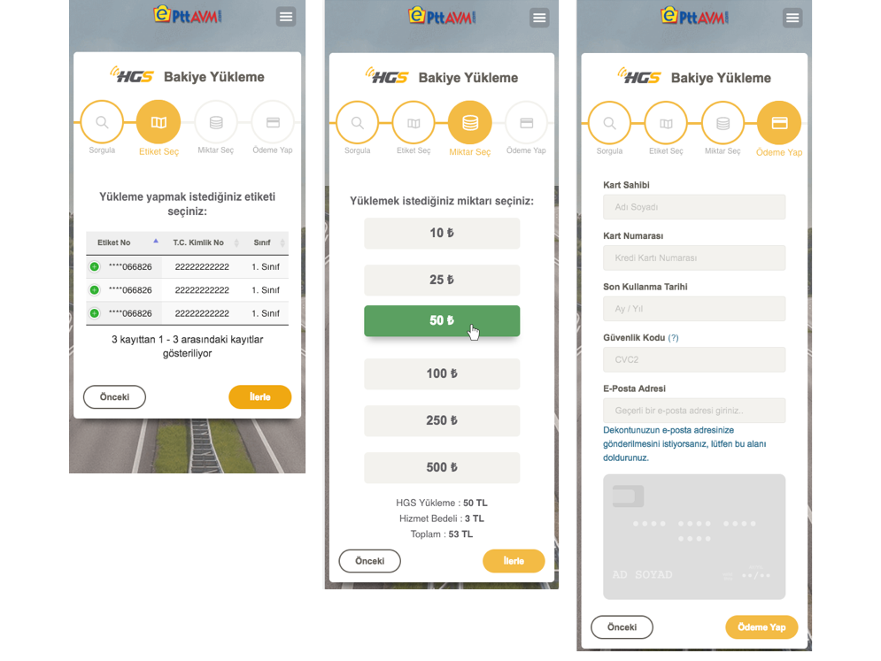 Balance payment page with bootstrap wizard - mobile process step by step mobile form credit card payment data table jquery wizard bootstrap web development responsive design