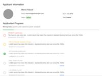 Applicant Info - Progress