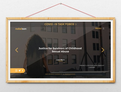 Law Firm Landing page Design Template