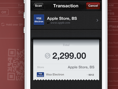 Payment System App Interface Design ramotion design interface ui gui icon ux user bill check invoice visa mastercard transaction experience appstore scan ios ipad iphone