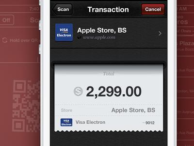 Payment System App Interface Design