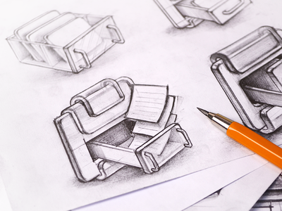 MacOS App Icon Sketches pencil sketch sketches icon icons ramotion paper pen design mac macos appstore app application set drawing cabinet page handle box