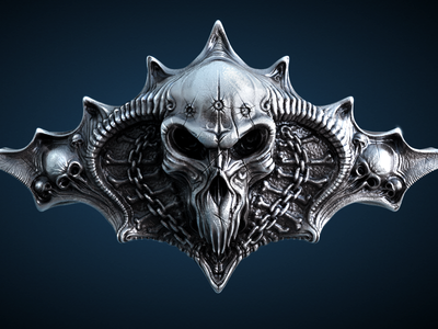 Skull Wallpaper skull 3d model illustration wire modeling rendering sculpting ramotion wallpaper free freebie download iphone ipad ios bone chain metal texture