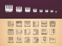 Epic piano icon sizes sketch ramotion