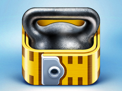 Fitness Pro HD App Icon icon icons ramotion design app application iphone ipad ios fitness pro weight ruler rule foot health healthy gym workout appstore
