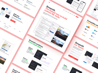 Streamlit Web Design Process marketing website landing page web design company website web design agency web design ux interface design ui ux ui user interface ramotion user experience