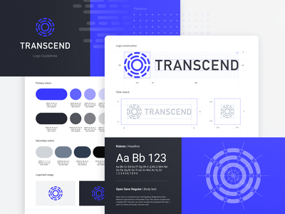 Transcend Visual Brand Identity Guidelines saas logo logomark icon design cool icons digital logo ui style guide flat logo design creative logo simple logo illustration vector illustration tech logo app icon flat illustration logo presentation elegant logo logotype visual identity icons logo