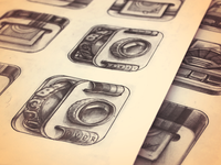 iPhone App Icon Sketches — Stage 2