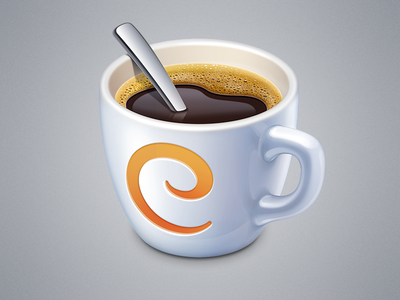 Caffeinated App Icon caffeinated app icon icons ramotion mac macos cup coffee rss google reader application tea chocolate latte mug pottery cappuccino photoshop