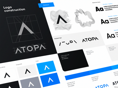 Atopa Visual Brand Identity typography logo vector ui interface icons icon user interface design ramotion
