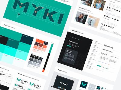 MYKI Visual Identity Guidelines branding agency brand identity design style guide brand identity ui interface typography vector logo branding icons user interface design ramotion