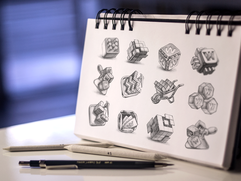 MacOS App Icon Sketches mac sketches pencil design ramotion application drawing paper icons android product logo
