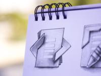 TypeMetal App Icon Sketching