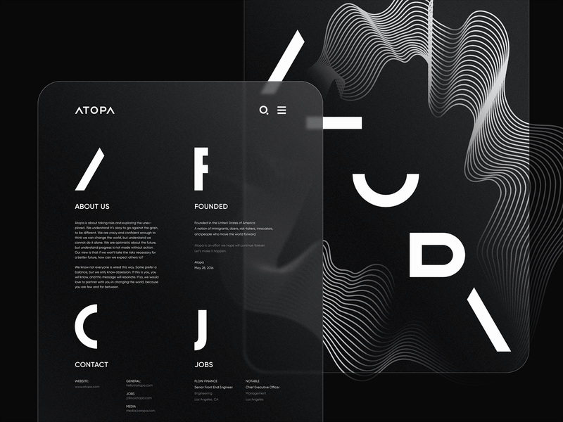 ATOPA Visual Language branding agency web design visual identity branding design brand identity design typography logo branding application interface icon ux ui user interface design ramotion