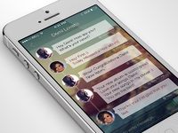 Iphone chat app interface design ramotion