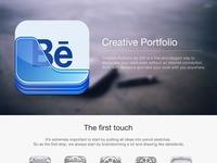 Behance portfolio app icon design ramotion