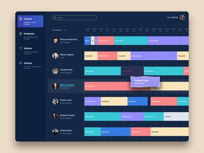 Gantt Chart - UI UX design ui design ux design chart ui design company ux ui interface design user interface