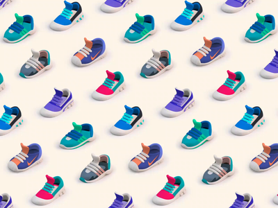 Sneakers Motion Study loop animation endless animations motion graphics sneaker sneakers animation after effects motion animation branding ui vector illustration design ramotion