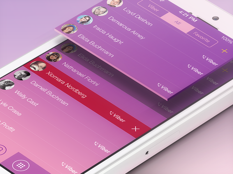 Viber iOS 7 Concept viber iphone app design interface ios7 ui ux concept ramotion user interface chat