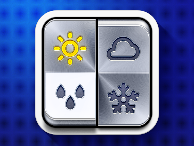 39 weather on 39 iphone app icon by ramotion dribbble for Application iphone temperature interieur