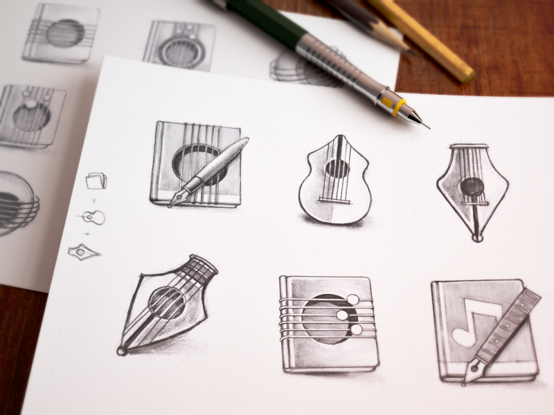 Mac Icon Sketching app icon icons mac appstore camera sketches pencil music book notes guitar