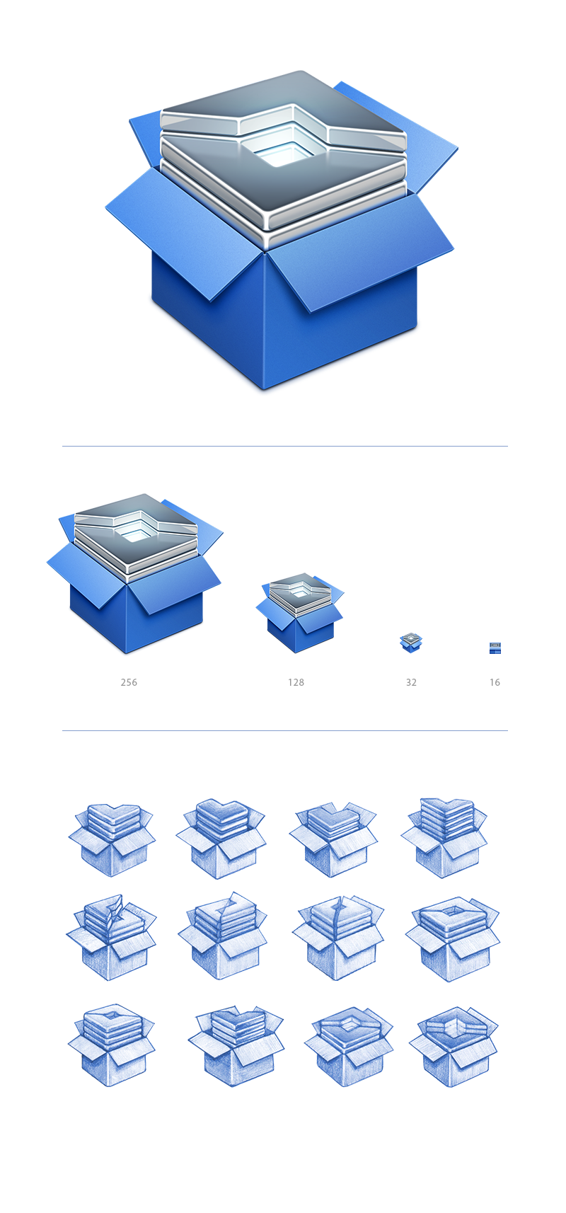 Snippet set document icon big