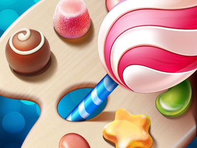 Sweet App Icon icons ramotion sweet candy palette chocolate lollipop painting android application icon designer ios 7