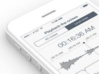 Sleep Tracker iPhone App Design | UX, UI