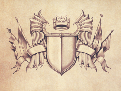 Heraldry Pencil Illustration